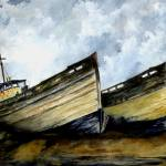 """Two Old Boats"" by vigliotti"