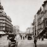 """Market and 5th, Baldwin Hotel c1890"" by worldwidearchive"