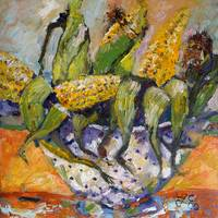 CORN The Stuff Of Life  Oil Painting by Ginette