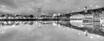 Downtown Portland Oregon Waterfront Reflections