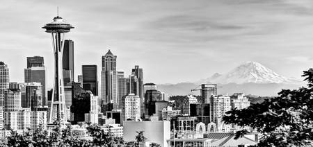 Seattle Skyline - Space Needle and Mt. Rainier