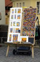 Drawing for sale on Charles Bridge, Prague.