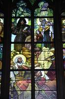 Stained glass windows, St. Vitus Cathedral, Prague