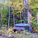 """end of the road for an old truck in Vermont"" by sphraner"