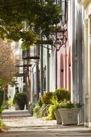 Historic Rainbow Row Charleston SC