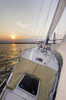 Sailing Sailboat Sunset Beneteau 49
