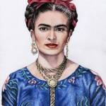 """Hommage to Frida Kahlo"" by ArtsandDogs"