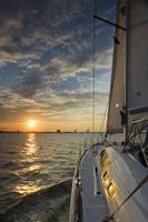 Sailing Sunset Charleston Harbor SC