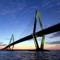 """Cooper River Bridge Sunset Charleston SC"" by DustinKRyan"