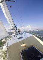 Sailing on the Charleston Harbor on a Beneteau 49