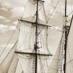 """Sails of the Brigantine Fritha Sailboat"" by DustinKRyan"