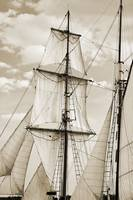 Sails of the Brigantine Fritha Sailboat