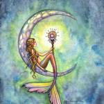 """Mermaid Moon Fantasy Art Print by Molly Harrison"" by robmolily"