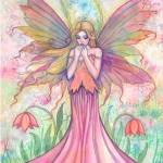 """Wildflower Fairy Fantasy Watercolor Art by Molly H"" by robmolily"