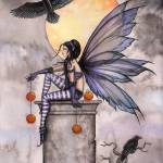 """Autumn Raven Fairy Fantasy Art Print by Molly Harr"" by robmolily"