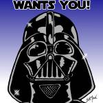 """""""Vader: The Dark Side Wants You"""" by EdMedArt"""