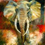 """African Elephant"" by creativesportsart"