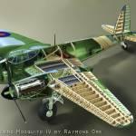 """De Haviland Mosquito IV Cutaway"" by RaymondOre"