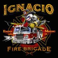 Novato Fire Department E6184 Art Prints & Posters by Bryan McGuire