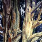 """Watercolour painting of tree closeup"" by RaymondOre"