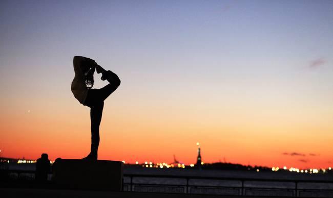 Yoga Art Photography Silhouette Dancer Pose...