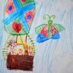 """Hot Air Balloon Family Drawing"" by 4FootNinja"