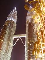 Petronas towers and lights