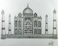 Taj Mahal Drawing
