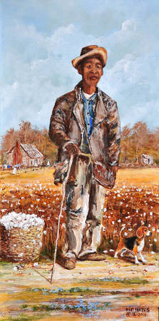 SHARE CROPPER ZEEK SHARECROPPER  SOUTHERN ART  FOL