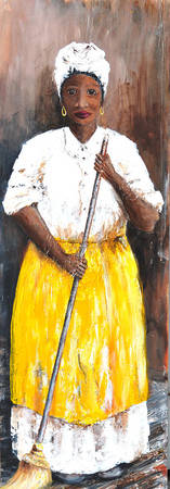 MISS VIOLET AFRICAN AMERICAN WOMAN SOUTHERN ART