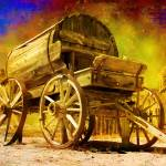 """Old Western Water Wagon"" by arunasphoto"