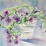 """Petunias"" by lorisart"