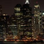 """New York, Manhattan skyline, Night."" by StephenGallagher"