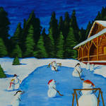 """Snowmans Hockey Two"" by anthonydunphy"