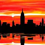 """NYC Skyline"" by FradetFineArt"