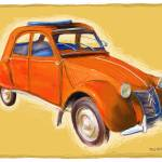"""Red Citroen 2CV"" by RGMcmahon"