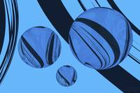 Spheres Deco Series - Blue