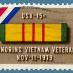 """Vietnam Service Medal Postage Stamp: Honoring Vets"" by WilshireImages"