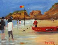 Red Surf Boat