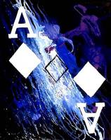 ABSTRACT GALAXY ACES POKER ART OF DIAMONDS
