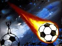 WORLD CUP SOCCER ART FLAMING SOCCER BALL