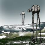 """At-At Winter Landscape"" by davril"