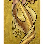"""Mermaid Nouveau Gold"" by Jill_Johansen"