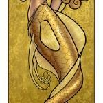 """Mermaid Nouveau Gold"" by Jill_Johansen"