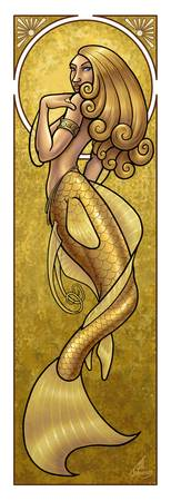 Mermaid Nouveau Gold