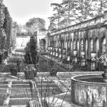 """Roman Gardens in the Fall - BW"" by FordLou"