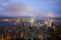 The famous Hong Kong nighview