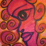 """Purple Woman in Swirls"" by AngelaHayden"