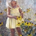 """Yellow Dress and Coneflowers"" by mariewitte"
