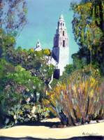 Cactus Garden California Tower in Balboa Park